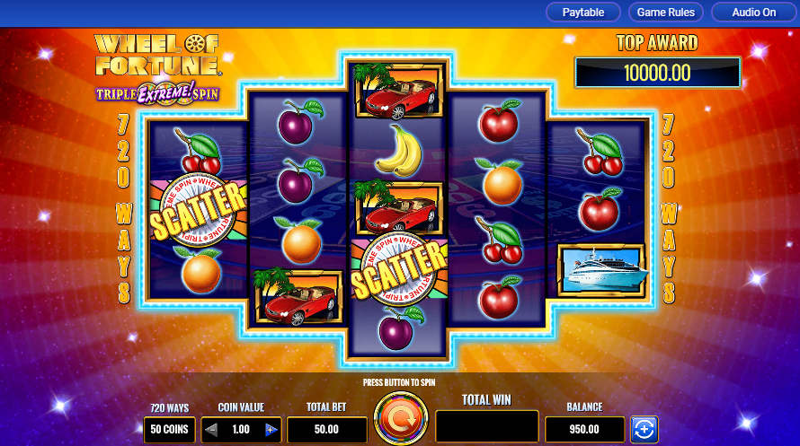 this is wheel of fortune slot machine image